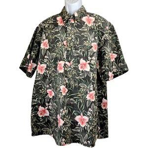 Vtg Reyn Spooner Reverse Print Hawaiian Shirt